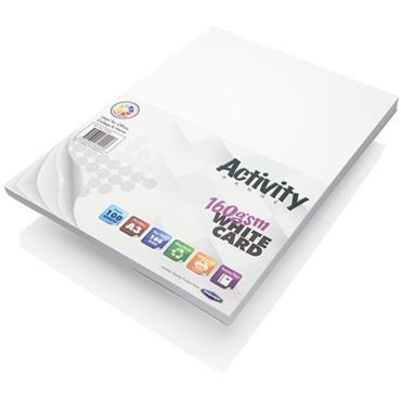 Premier Activity A3 160gsm Card 100 Sheets - White