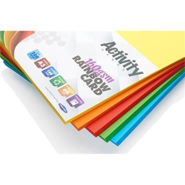 Premier Activity A3 160gsm Card 200 Sheets - Rainbow