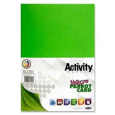 Premier Activity A4 160gsm Card 50 Sheets - Parrot