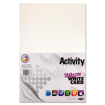 Premier Activity A2 160gsm Card 25 Sheets - White