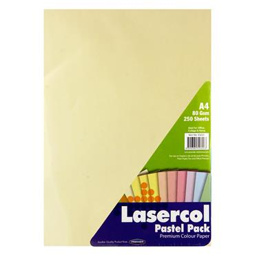 Lasercol A4 80gsm Colour Paper 1/2 Ream - Pastel