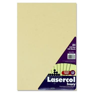 Lasercol A4 120gsm Activity Paper 100 Sheets - Ivory