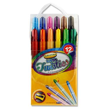 Woc Pkt.12 Mini Twisties Crayons