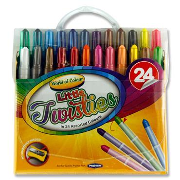 Woc Pkt.24 Mini Twisties Crayons