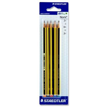 Staedtler Card 5 Asst Noris Pencils - H/b/hb/2b/2h