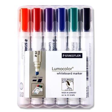 Staedtler Lumocolor Box 6 Asst. Whiteboard Markers