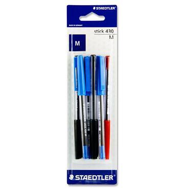 Staedtler Card 6 Asst Stick 430 Ballpoint Pens