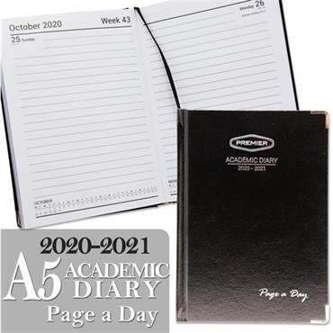 PREMIER A5 ACADEMIC DIARY PAGE A DAY 2020-2021