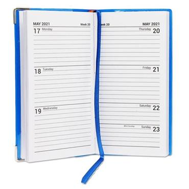 PREMIER 2021 PVC SLIM POCKET DIARY - WEEK TO VIEW 3 ASST