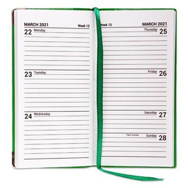 PREMIER 2021 PVC SLIM POCKET DIARY - WEEK TO VIEW BRIGHT 3 ASST