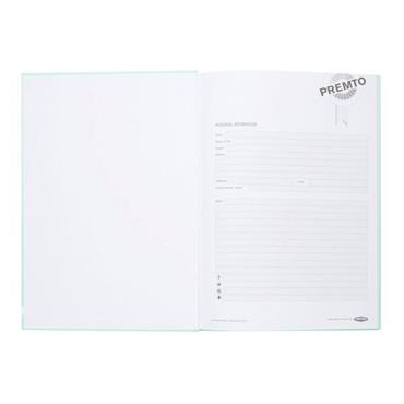 PREMTO PASTEL A4 160pg HARDCOVER NOTEBOOK - MINT MAGIC