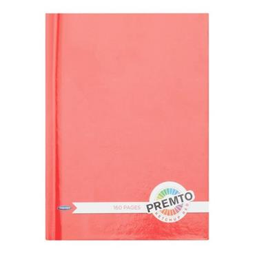 PREMTO A6 160pg HARDCOVER NOTEBOOK - KETCHUP RED