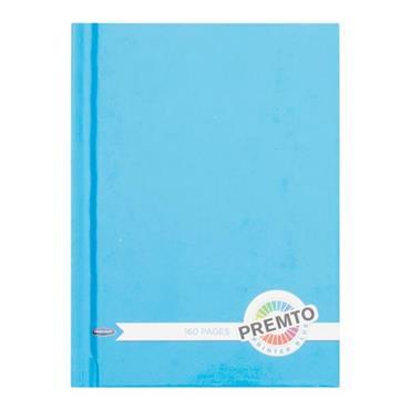 PREMTO A6 160pg HARDCOVER NOTEBOOK - PRINTER BLUE
