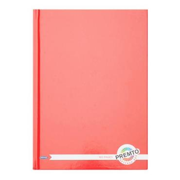PREMTO A5 160pg HARDCOVER NOTEBOOK - KETCHUP RED