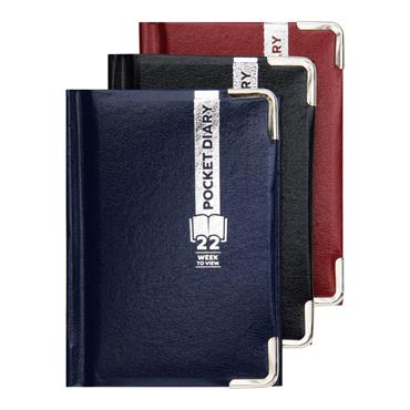 PREMIER 2022 A7 POCKET DIARY - WEEK TO VIEW 3 ASST