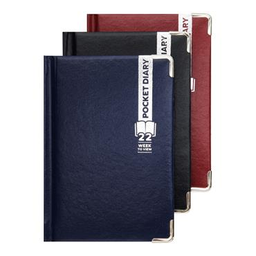 PREMIER 2022 A6 POCKET DIARY - WEEK TO VIEW 3 ASST