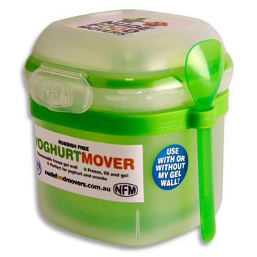 SMASH NUDE FOOD GEL YOGHURT MOVER W/SPOON BRIGHT - GREEN