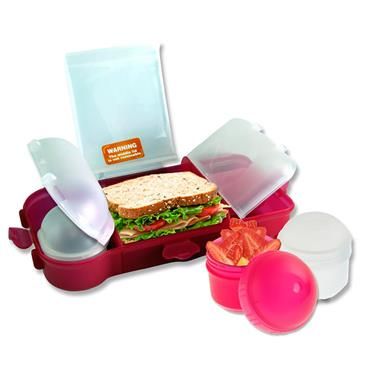 SMASH RUBBISH FREE LUNCHBOX SET BRIGHT - PINK CDU