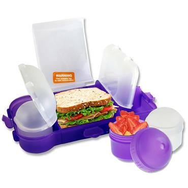 SMASH RUBBISH FREE LUNCHBOX SET BRIGHT - PURPLE CDU