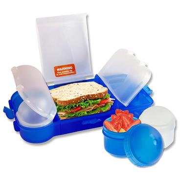 SMASH RUBBISH FREE LUNCHBOX SET BRIGHT - BLUE CDU