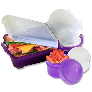 Smash Mini Rubbish Free Lunchbox Set Bright - Purple