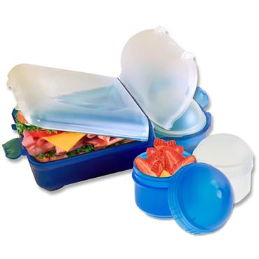 Smash Mini Rubbish Free Lunchbox Set Bright - Blue