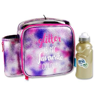 Smash Junior Case & 350ml Bottle - Glitter Is My Fave Colour