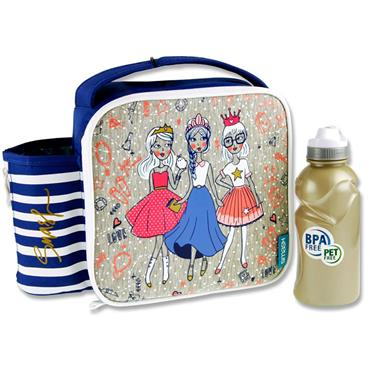 Smash Junior Case & 350ml Bottle - Bff Princesses