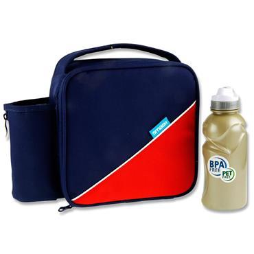 Smash Junior Case & 350ml Bottle - Navy & Red