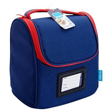 SMASH SCHOOL LUNCH BAG - NAVY BLUE & RED