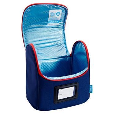 SMASH SCHOOL LUNCH BAG - NAVY BLUE & RED