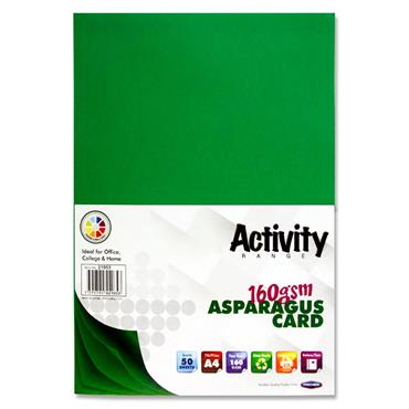 PREMIER ACTIVITY A4 160gsm CARD 50 SHEETS - ASPARAGUS