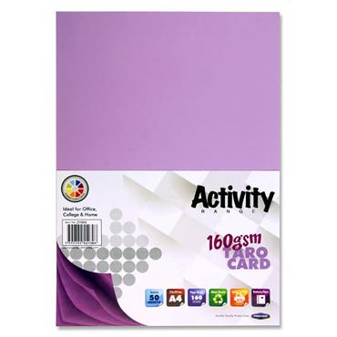 Premier Activity A4 160gsm Card 50 Sheets - Taro