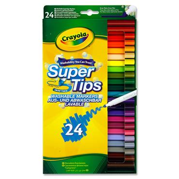 Crayola Pkt.24 Supertips Washable Markers