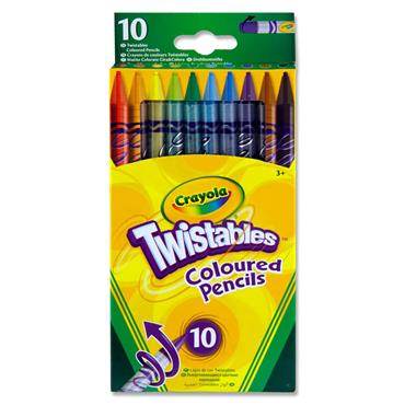 Crayola Pkt.10 Twistables Colour Pencils
