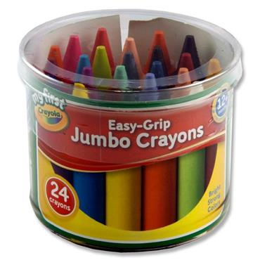 Crayola Tub 24 Easy-grip Jumbo Crayons