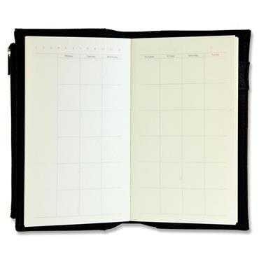 Concept 96x166mm 192pg Leather Bullet Journal With Zip Pocket