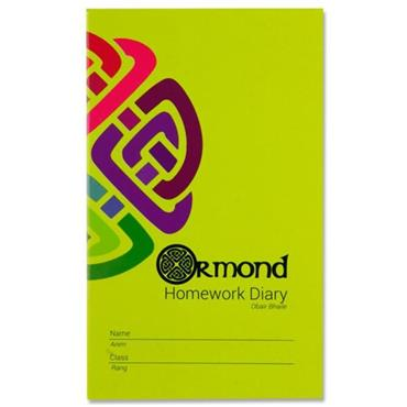 Ormond 84pg 165mm X 100mm Homework Diary Notebook