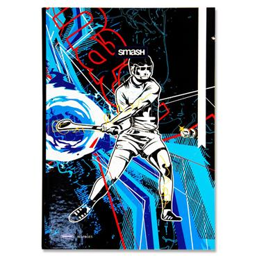 PREMIER SMASH PKT.4 A4 160pg HARDCOVER NOTEBOOK - SPORTS