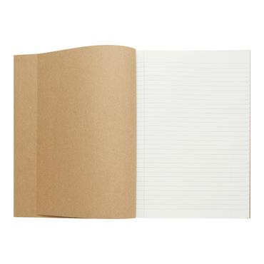 CONCEPT GREEN A4 160pg HARDCOVER NOTEBOOK RECYCLED PAPER