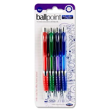 Pro:scribe Card 4 Ballpoint Pens - Blue Ink