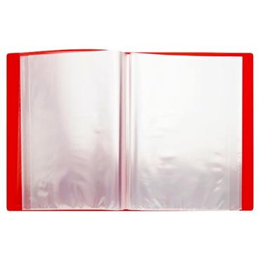 PREMTO A4 40 POCKET DISPLAY BOOK - KETCHUP RED