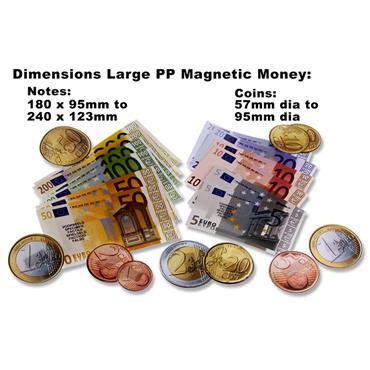 CLEVER KIDZ TUB 140 MAGNETIC PP EURO MONEY TEACHING SET ASST.