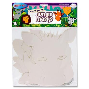 Crafty Bitz Pkt.16 Decorate Your Own Masks - Jungle Animals