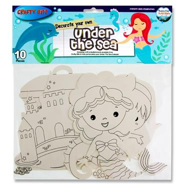Crafty Bitz Pkt.10 Cut Outs - Under The Sea Mermaid