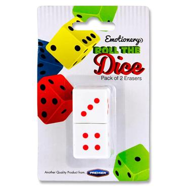 Emotionery Card 2 Roll The Dice Erasers