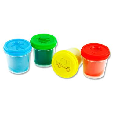Woc 4x140g Pots Play Dough With Mould Lid