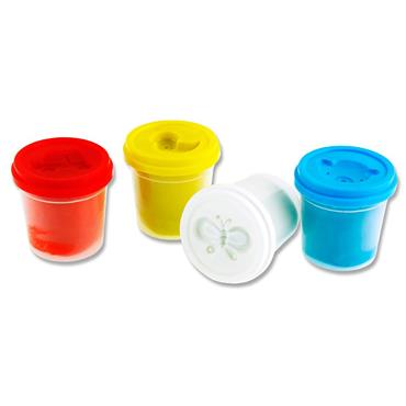 Woc 4x140g Pots Play Dough With Mould Lid