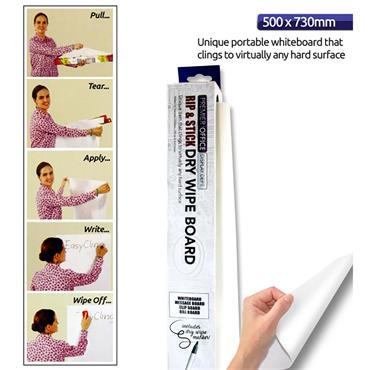 Premier Office Instant Whiteboard Roll 8 Sheets 50x73cm