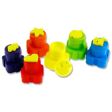Woc 10 Interlocking Pots 20g Finger Paint With Stamps